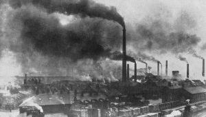 Widnesin teollisuuskaupunki 1800-luvun lopulla.