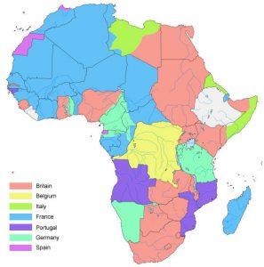 Afrikka vuonna 1914.