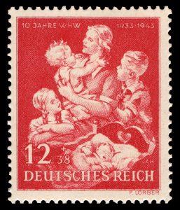 Saksalainen postimerkki vuodelta 1943.