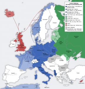 Eurooppa vuonna 1940.